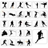 Grand ensemble de vecteur de sport illustration libre de droits
