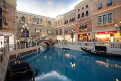 Grand entertainment complex The Venetian in Macao. Royalty Free Stock Image