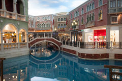Grand entertainment complex The Venetian in Macao. Royalty Free Stock Photos