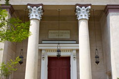Grand Entrance 2. Another spectacular door and entranceway to one of the beautiful buildings, this time a church, in the historic district in Savannah, Georgia Royalty Free Stock Image