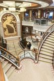 Grand entrance staircase MS Queen Elizabeth. NnMS Queen Elizabeth is a cruise ship of the Vista class operated by the Cunard Line. The design is modified from stock photography