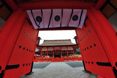 Grand entrance of temple in Japan Royalty Free Stock Photos