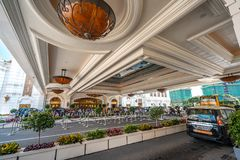 Macau, China - Apr 23, 2019: Galaxy Macau casino and hotel stock image