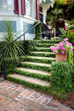 Grand entrance to historical southern home Stock Photo