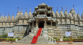 Grand entrance to the Jain Temple of Ranakpur Stock Photography