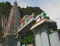 Grand Entrance To The Sri Subramaniar Indian Temple