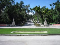 Grand Entrance to Vizcaya Royalty Free Stock Image