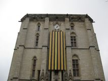 The grand entrance of the Val-de-Marne castle, Paris stock photography