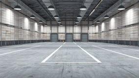 Grand entrepôt moderne avec quelques marchandises Photographie stock
