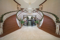 Grand Entry. Of luxury home filled with musical instruments Stock Image