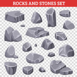 Grand et petit Gray Rocks And Stones Photo stock