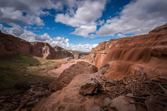 Grand Falls Arizona. Amazing scenes of the Grand Fall, Mud Falls, in Arizona Stock Images