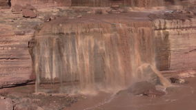 Grand Falls Arizona Close Up stock video footage