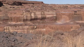 Grand Falls Arizona Landscape Zoom In stock video footage