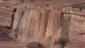 Grand Falls Arizona Up Close stock footage
