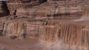 Grand Falls Arizona Zoom in stock footage