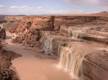 Grand Falls (Chocolate). Grand Falls, an oasis in the desert - upstream of the Grand Canyon royalty free stock photo