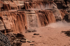 Grand Falls Chocolate Falls  is northeast of Flagstaff, Arizona. Royalty Free Stock Photography