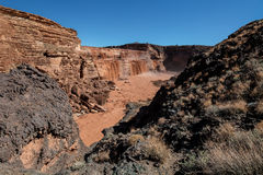Grand Falls Chocolate Falls  is northeast of Flagstaff, Arizona. Stock Photos
