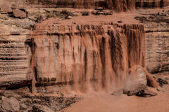 Grand Falls Chocolate Falls  is northeast of Flagstaff, Arizona. Stock Photography