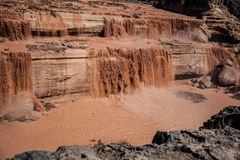 Grand Falls Chocolate Falls  is northeast of Flagstaff, Arizona. Royalty Free Stock Photos