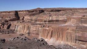 Grand Falls Landscape Arizona stock video