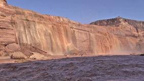 Grand Falls in Northern Arizona stock video footage