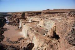 Grand Falls Northern Arizona. Seasonal waterfalls that run through northern arizona Stock Images