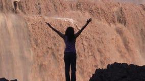 Grand Falls Wonder Zoom IN stock footage