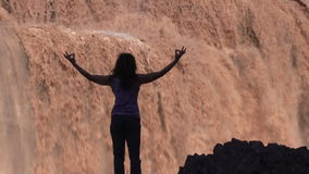 Grand Falls Yoga Zoom In stock footage
