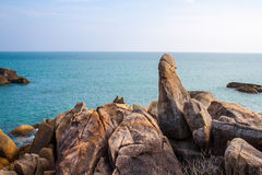 The grand father rock. In Samui island stock photo