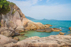 The grand father rock. In Samui island royalty free stock photos