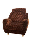 Grand fauteuil brun Images stock