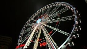 Grand Ferris Wheel In Brussels juste classique banque de vidéos