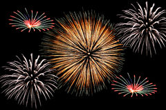 Grand feu d'artifice Photographie stock libre de droits