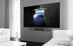 Grand film de télévision d'écran Images libres de droits