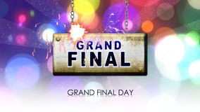 Grand final day stock footage