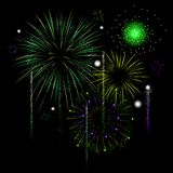 Grand finale. For a fireworks display in vector Royalty Free Stock Image