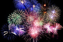 Grand Finale Fireworks Royalty Free Stock Photo