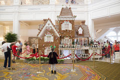 Grand Floridian Hotel - Gingerbread House 2013 Stock Photography