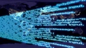 Grand flux de données Photos libres de droits