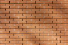 Grand fond brun moderne de mur de briques, texture de plan rapproché photographie stock