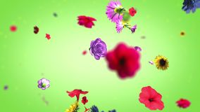 Grand fond coloré de fleurs dans 4K illustration de vecteur