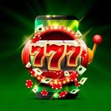 Grand fond de casino de téléphone des fentes 777 de victoire Photo stock