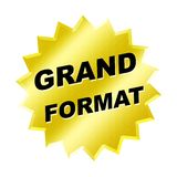 Grand Format Sign. Yellow grand format sign - web button - internet design royalty free illustration