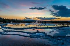 Grand Fountain Geyser Stock Photography