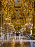 Opera Garnier Paris. Grand Foyer of the Palais Garnier, the Opera of Paris Stock Image