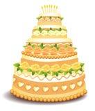 Grand gâteau Images libres de droits