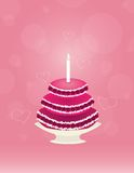 Grand gâteau avec la cerise Image stock