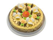 Grand gâteau crème Photos libres de droits